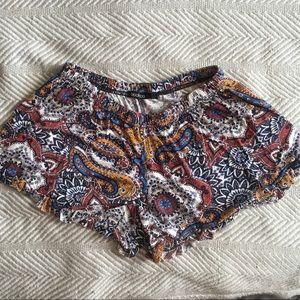 Paisley Cotton Shorts